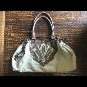 EUC Genuine Soft Leather Western Style Handbag